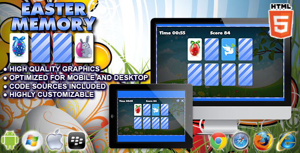 CodeCanyon Easter Memory HTML5 Memory Game 10664154
