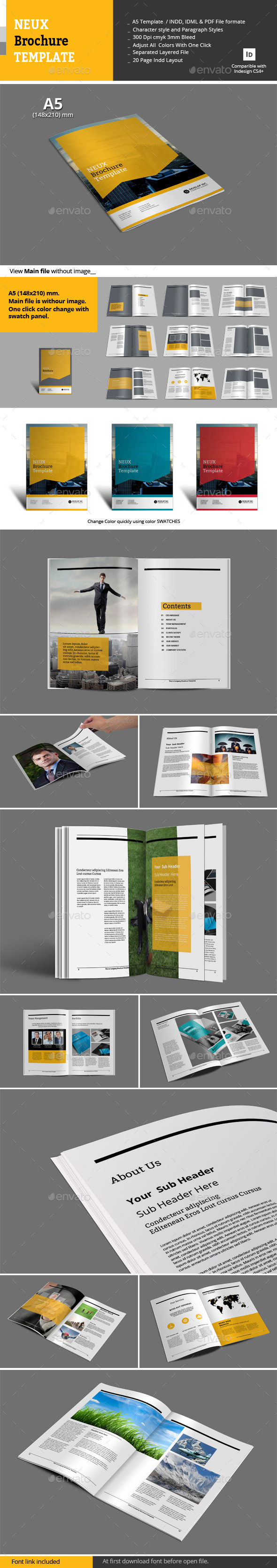 GraphicRiver Neux Brochure Templates 10593091