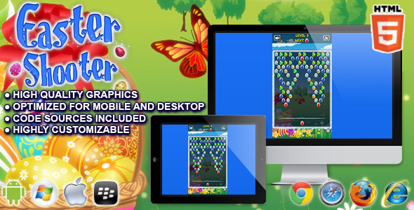 CodeCanyon Easter Shooter HTML5 Game 10664225