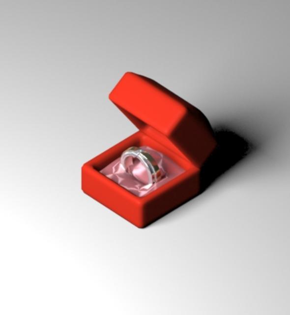 3DOcean Wedding Modern Ring in Jewelry Box 10621474