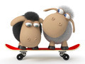 3d sheep on a skateboard - PhotoDune Item for Sale