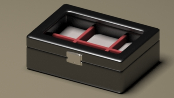Modern Luxury Lather Jewelry Box - 3DOcean Item for Sale