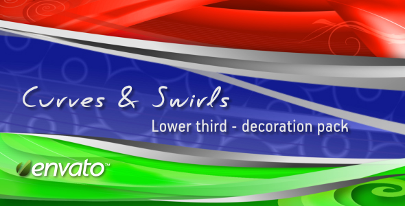Curves & Swirls lower third decoration pack