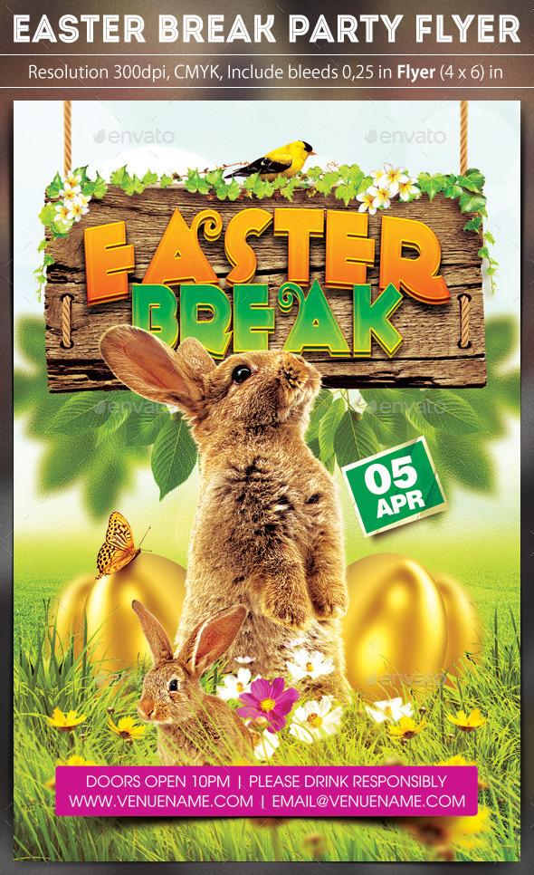 GraphicRiver Easter Break Flyer 10664762