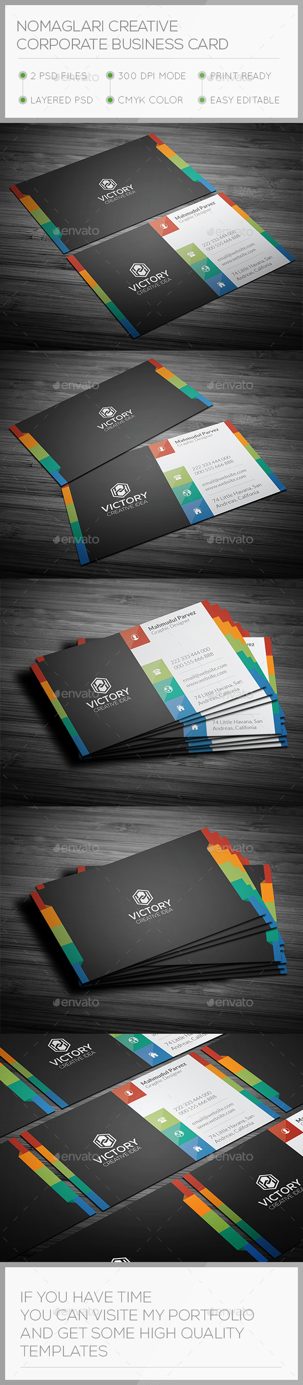 GraphicRiver Nomaglari Creative Business Card 10665416
