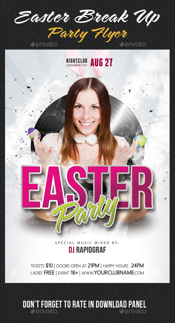 GraphicRiver Easter Break Up Party Flyer 04 10665583
