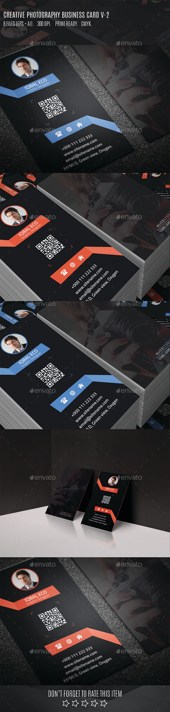 GraphicRiver Creative Photography Business Card V-2 10665684