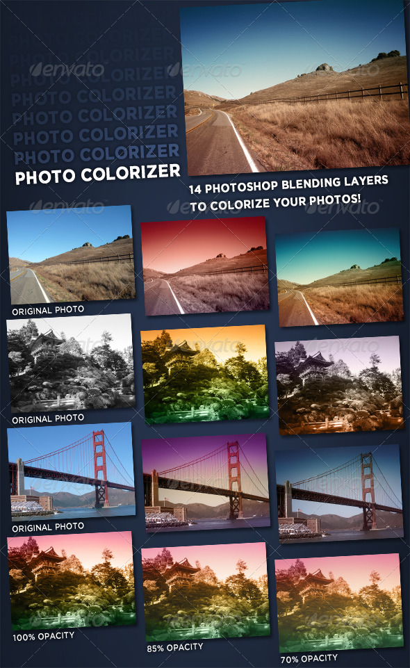 Photo Colorizer - Nature Textures / Fills / Patterns