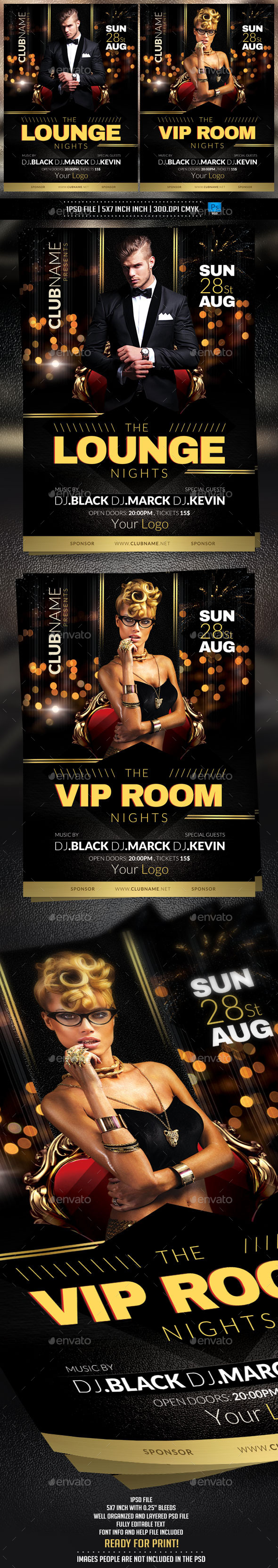 GraphicRiver Lounge Nights Flyer Template 10665854
