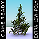 GameReady Low Poly Tree Pack 2 (Aleppo Pine)