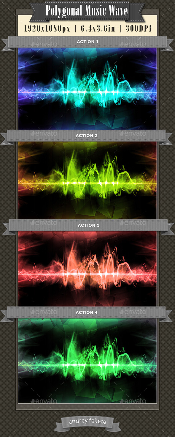 GraphicRiver Polygonal Music Wave Backgrounds 10666123