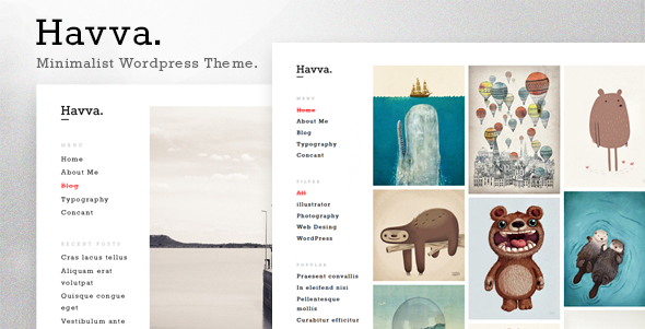 ThemeForest Havva Portfolio for Freelancers & Agencies 10666379