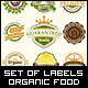 Set of Fresh Organic Labels and Elements - GraphicRiver Item for Sale