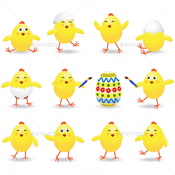 GraphicRiver Easter Chicks 10666488