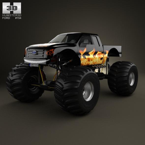 3DOcean Ford F-150 Monster Truck 2012 10666503