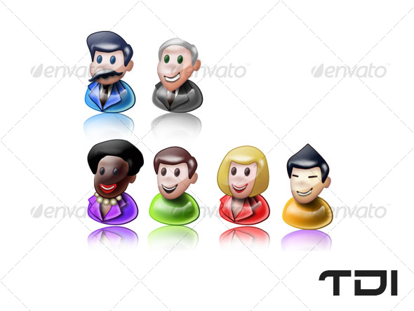 GraphicRiver Cartoonistic People 44183