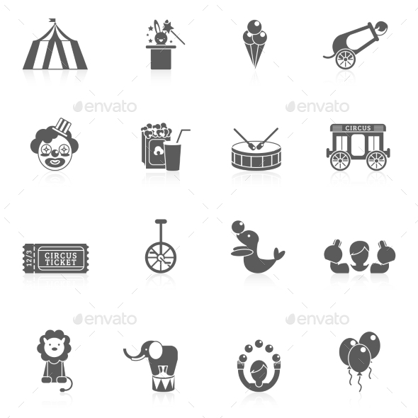 GraphicRiver Circus Icon Black 10666608