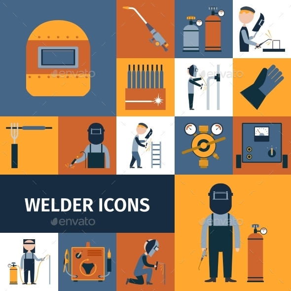 GraphicRiver Welder Icons Set 10666644