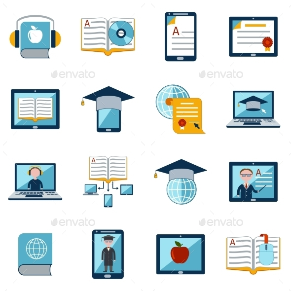GraphicRiver E-Learning Icons Set 10666648