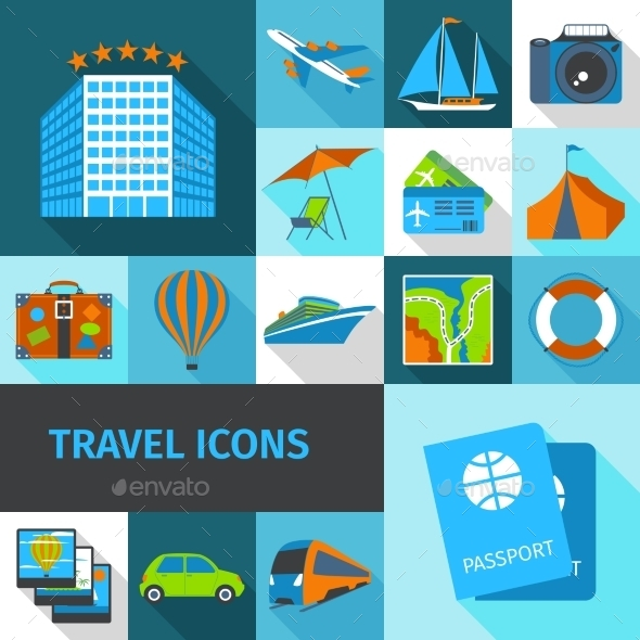 GraphicRiver Travel Icons Set 10666650