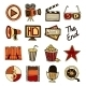 Cinema Vintage Icons Set - GraphicRiver Item for Sale