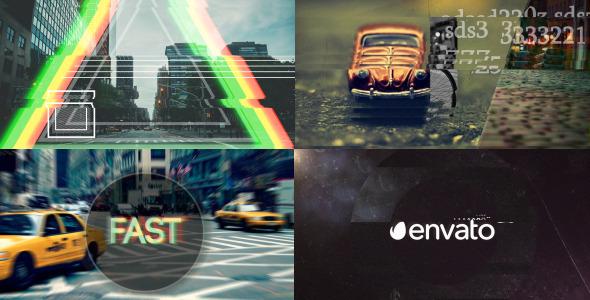 AE模板:快速失真故障公司片头logo展示模板Videohive Fast Glitch Logo Opener