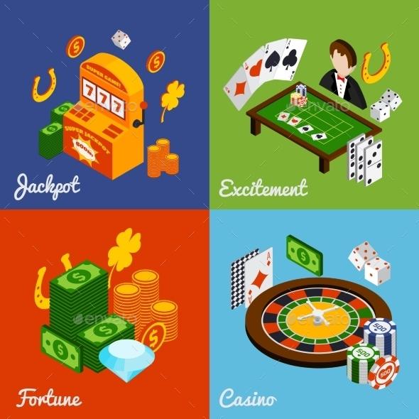 GraphicRiver Casino Isometric Set 10667111