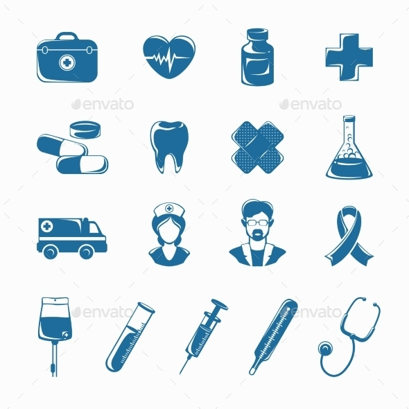 GraphicRiver Medicine Icons Set 10667148