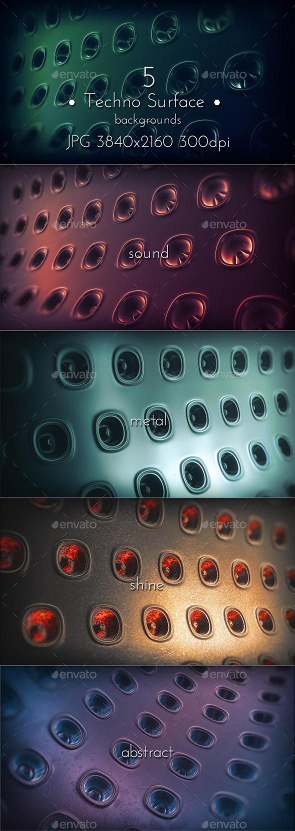 GraphicRiver Dark Techno Surface 10667167
