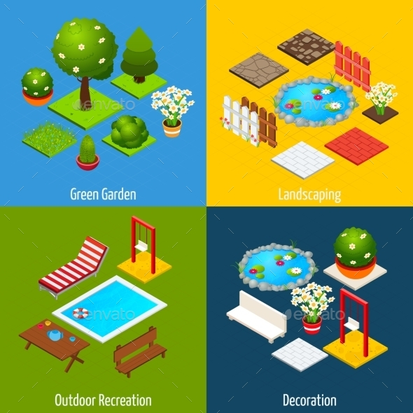 GraphicRiver Landscape Isometric Design 10667300