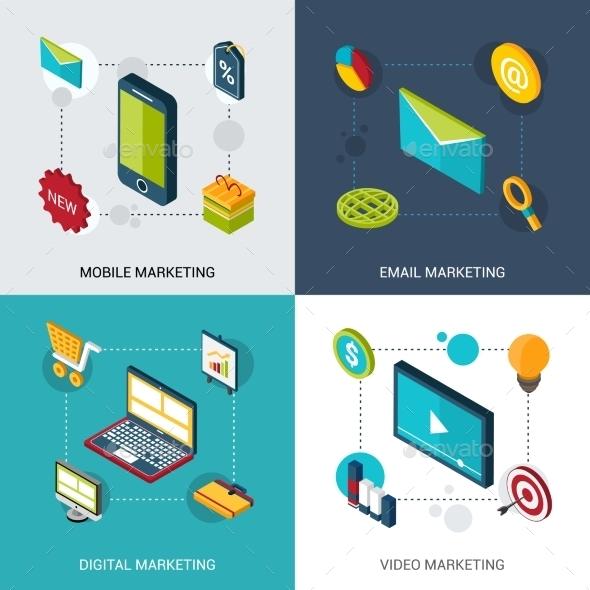 GraphicRiver Marketing Isometric Set 10667310