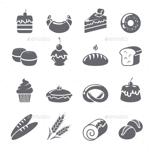 GraphicRiver Baking Icons Black 10667458