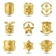 Police Badges Gold - GraphicRiver Item for Sale