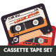 Flat Retro Cassettes Pack - GraphicRiver Item for Sale