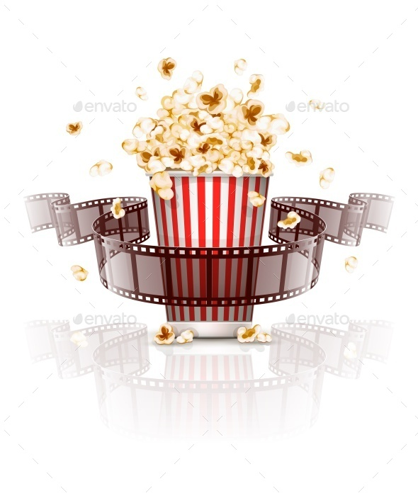 GraphicRiver Jumping Popcorn and Film-Strip Film 10667665