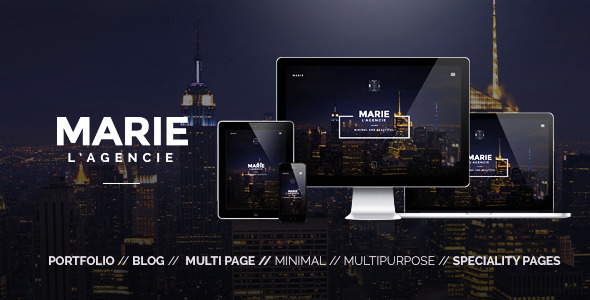 ThemeForest Marie Creative Agency Portfolio Template 10667666