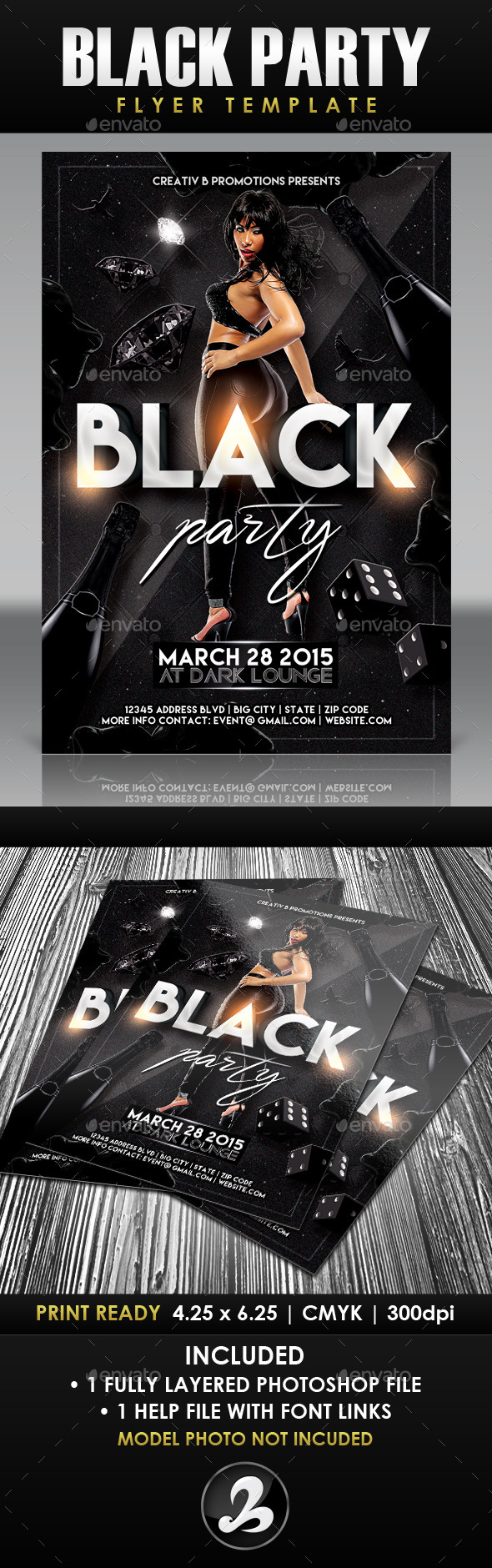 GraphicRiver Black Party Flyer Template 2 10667671
