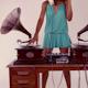 Stylish Female Dj Retro Gramophones 1 - VideoHive Item for Sale