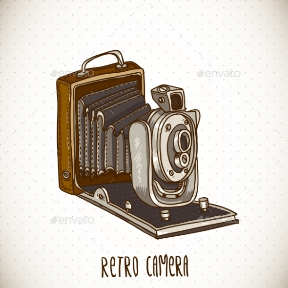 GraphicRiver Vintage Card with Retro Camera 10668500