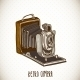 Vintage Card with Retro Camera - GraphicRiver Item for Sale