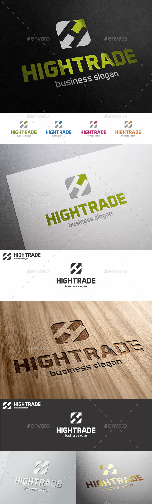 GraphicRiver High Trade H Letter Logo Template 10668724