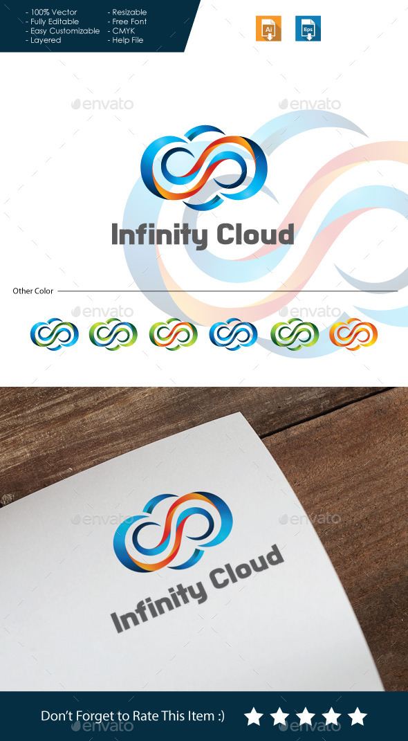 GraphicRiver Infinity Cloud Logo 10668826