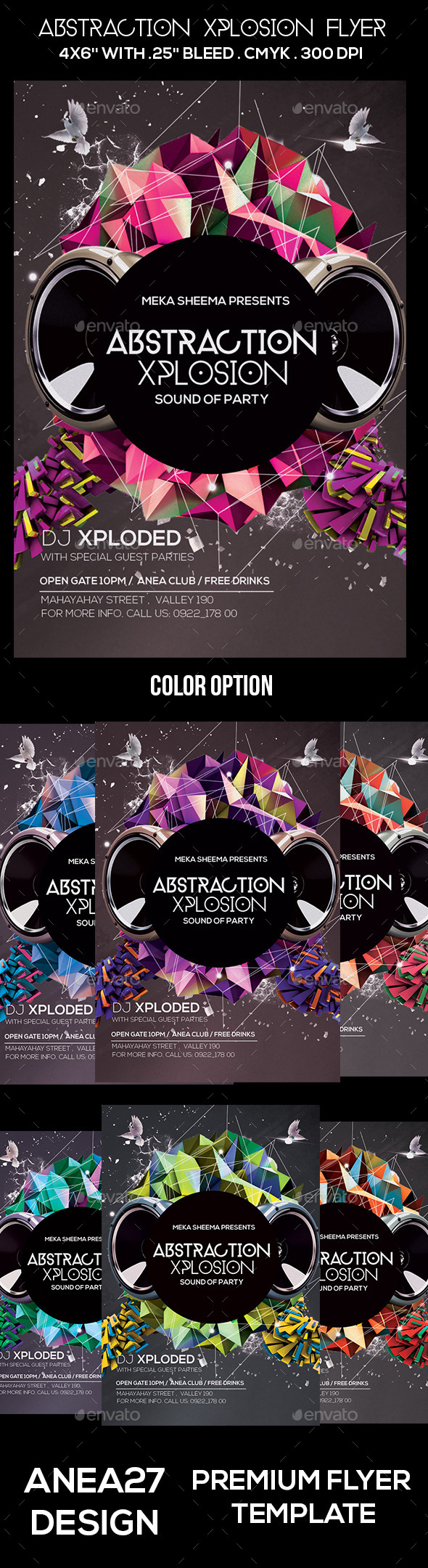 GraphicRiver Abstraction Xplosion Flyer 10668884