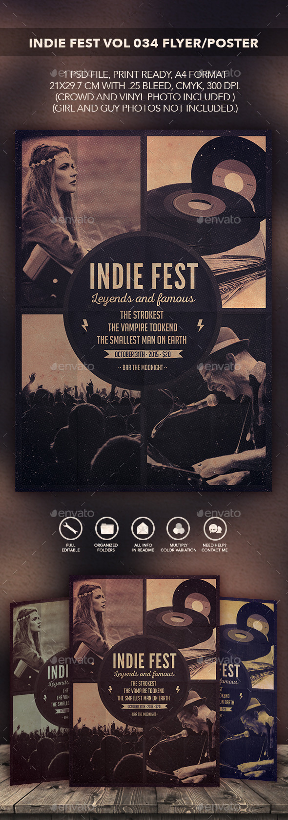 GraphicRiver Indie Fest Vol 04 Flyer Poster 10564107