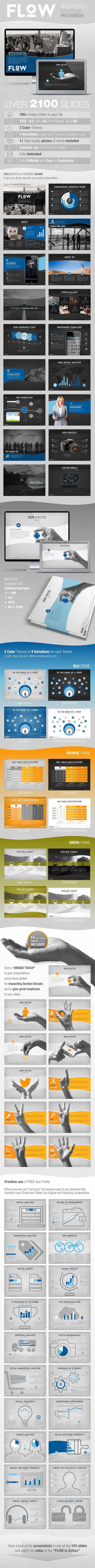 GraphicRiver Flow multipurpose Powerpoint template 10669010