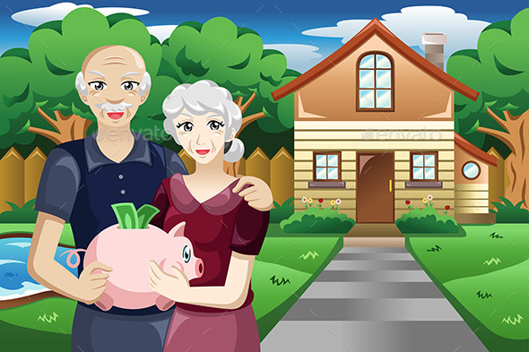 GraphicRiver Retired People with Their Savings 10669883