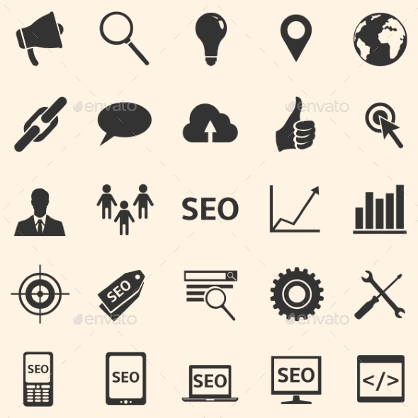 GraphicRiver Vector Set of SEO Icons 10669915