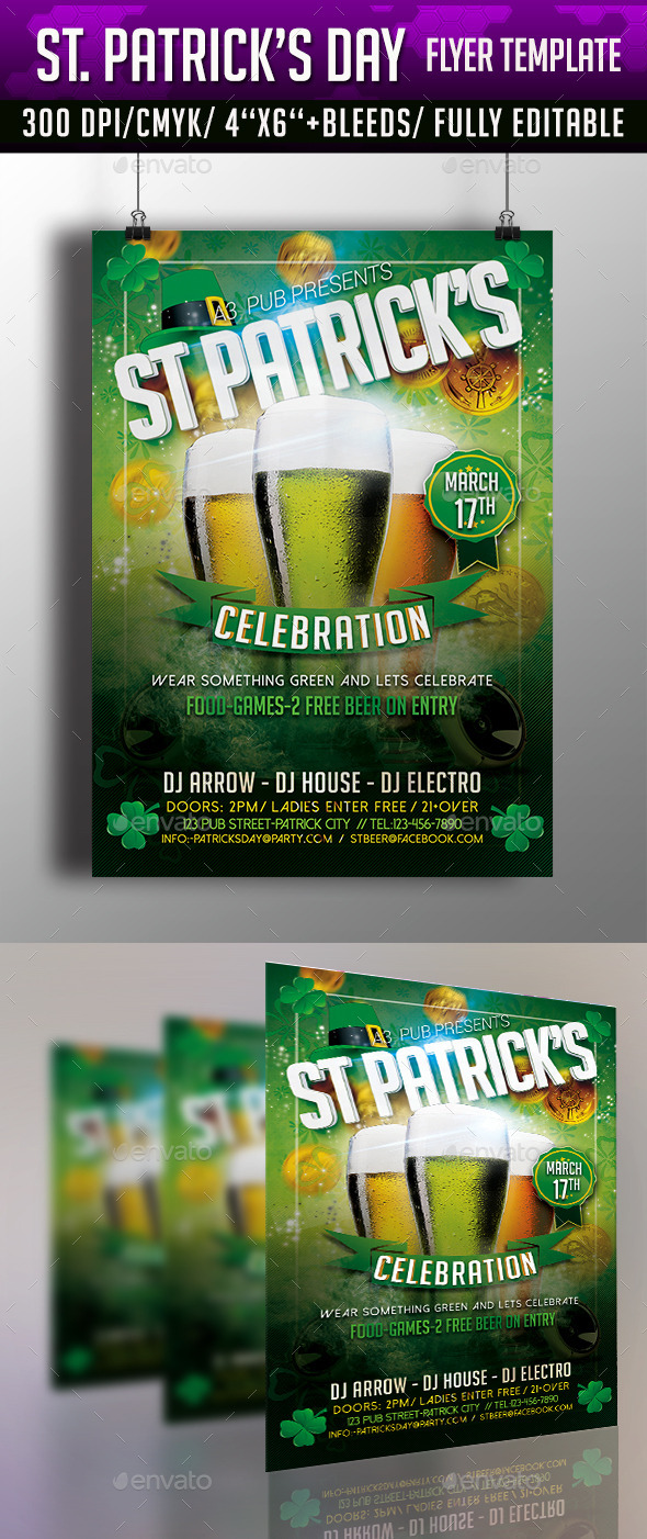 GraphicRiver St Patrick's Day Flyer Template 10669970