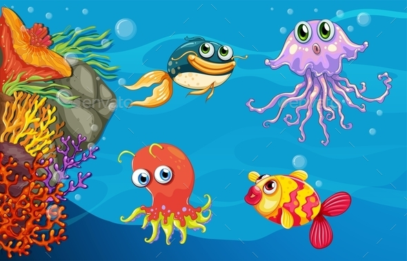 GraphicRiver Underwater Creatures 10670020