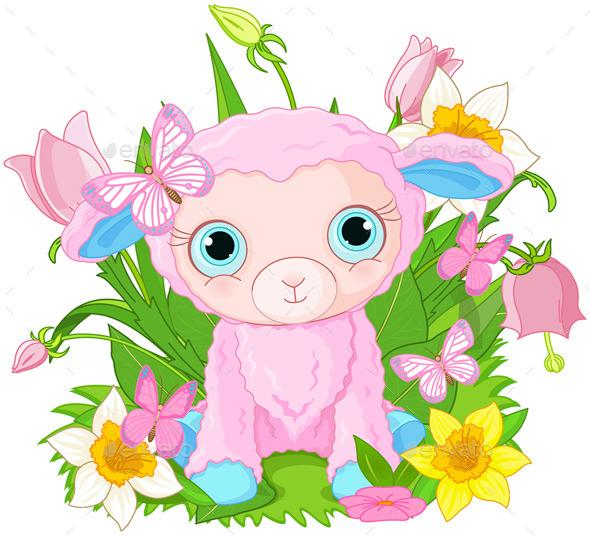 GraphicRiver Cub Sheep 10670027